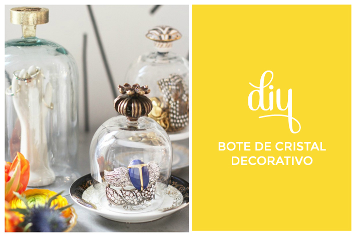 Diy bote de cristal decorativo el blog de laucreativa - Decorar botes de cristal para boda ...